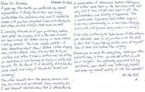 plastic surgery patient testimonials, Testimonials